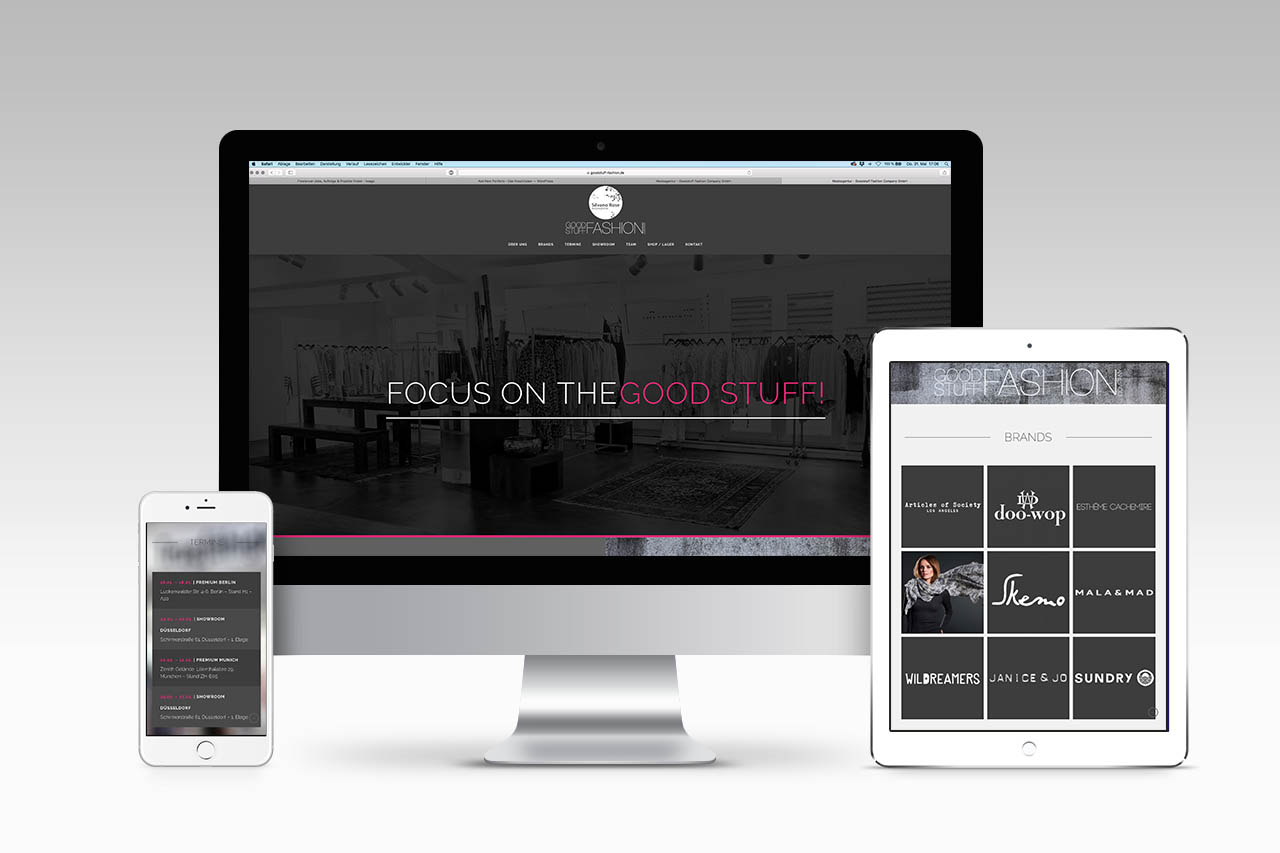 Goodstuff Fashion Webdesign