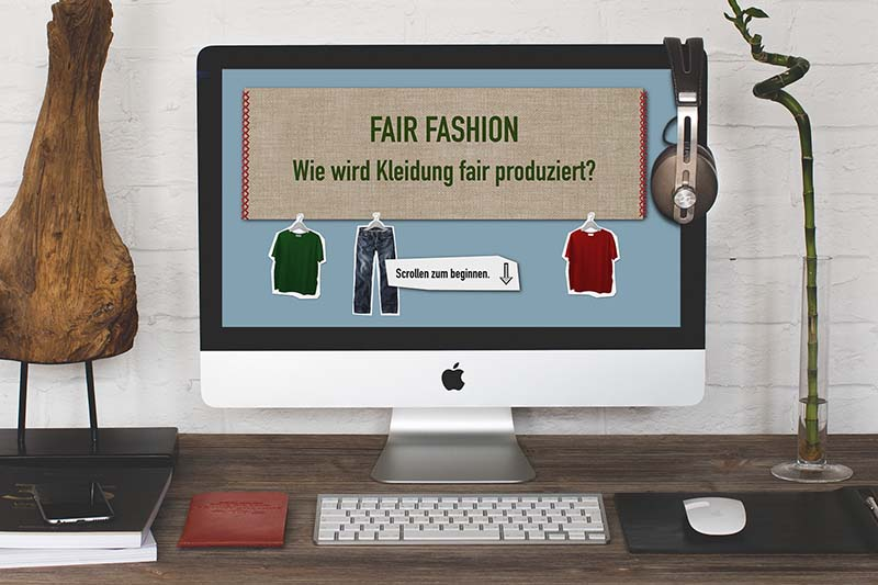 """Fair Fashion"" interaktive Infografik Agentur"
